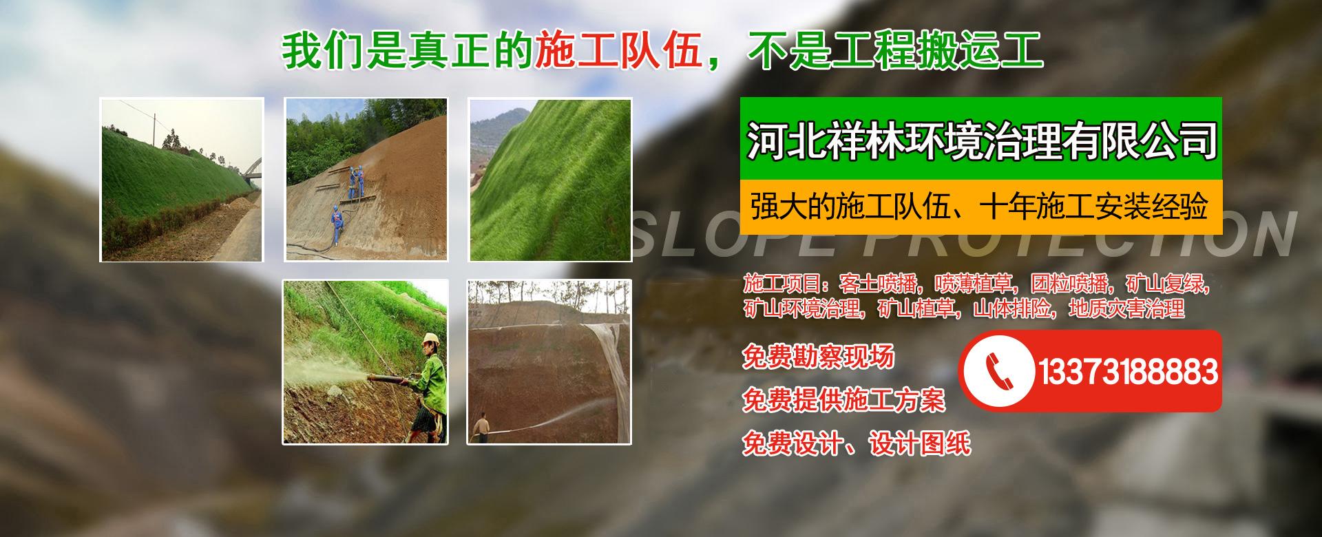 客土喷播、山体绿化